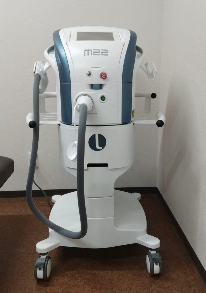 IPL治療器(ルミナスM-22)