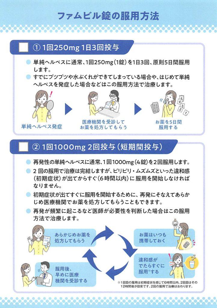 ファムビル錠の服用方法